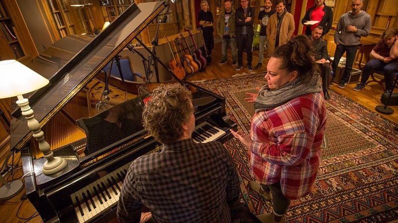 Producing a track with Greg Wells and Keala Settle