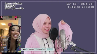 Say So - Doja Cat Reacts To Rainych Japanese Cover Side By Side