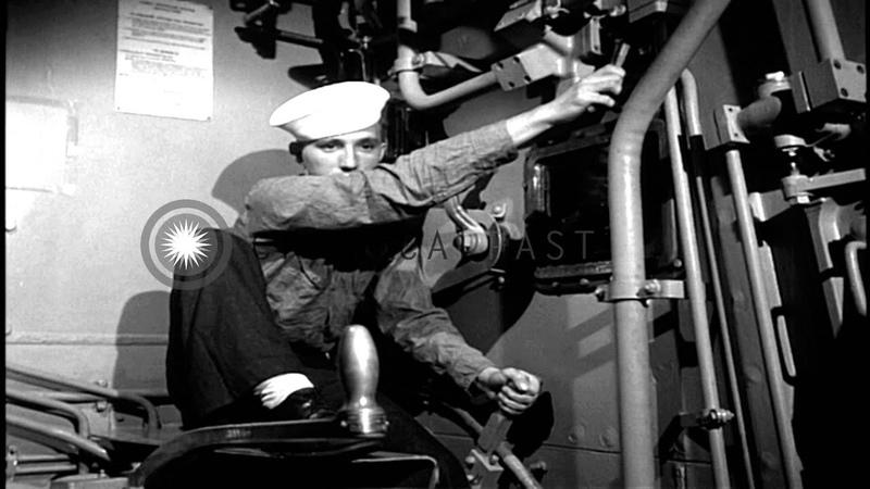Gun Turret 16 Inch fired aboard USS Missouri HD Stock Footage