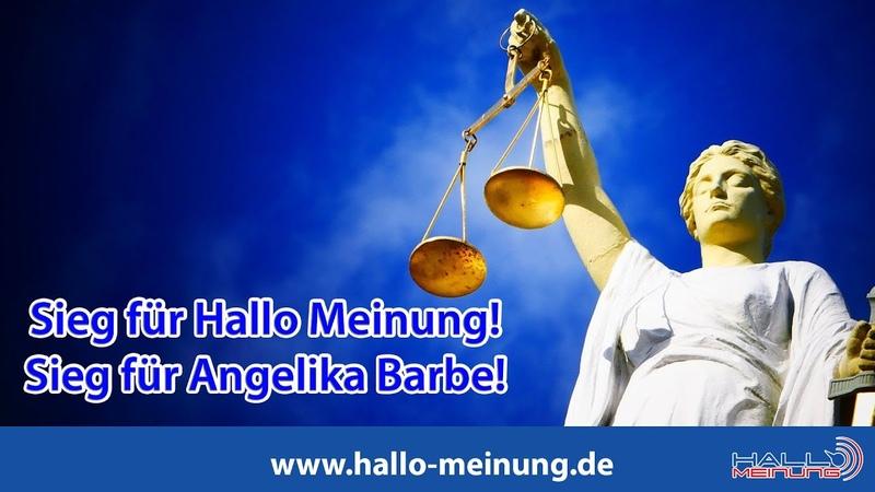 Sieg für Hallo Meinung Sieg für Angelika Barbe