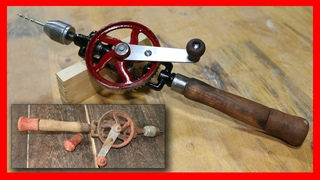 Restoration Antique Mechanical Wood Drill - Japanese Carpenter Drill 100 Years Old