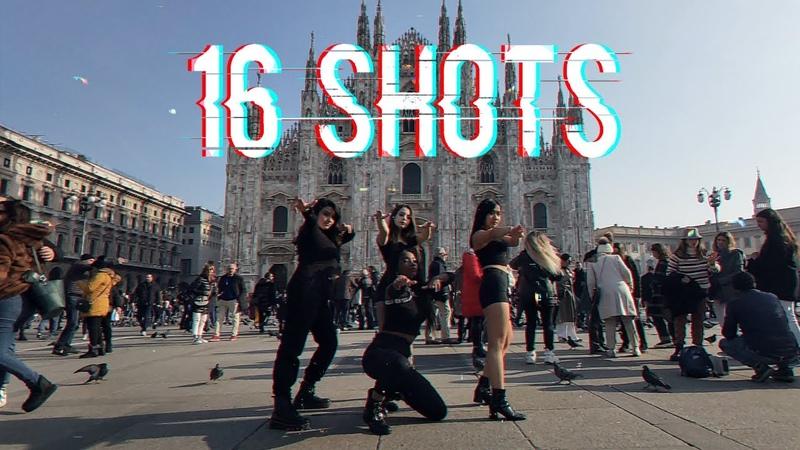 KPOP IN PUBLIC IN ITALY STEFFLON DON 16 SHOTS BLACKPINK CHOREO Dance Cover M2B