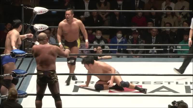 AXIZ (Go Shiozaki Katsuhiko Nakajima) Shuhei Taniguchi vs. Hideki Suzuki, Kazuyuki Fujita Takashi Sugiura