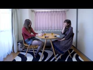 Две японки в колготках общаются и пердят / Japanese girls in pantyhose are talking and farting