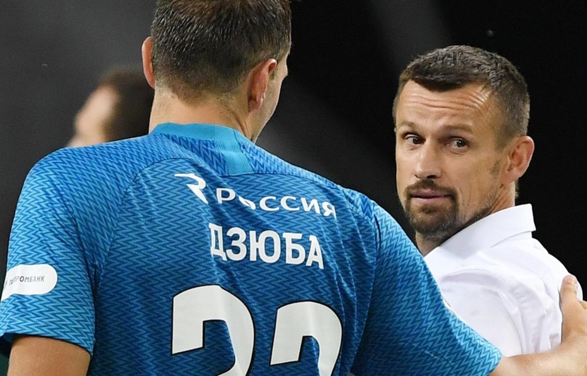 Сергей Семак и Артем Дзюба. ФК Зенит
