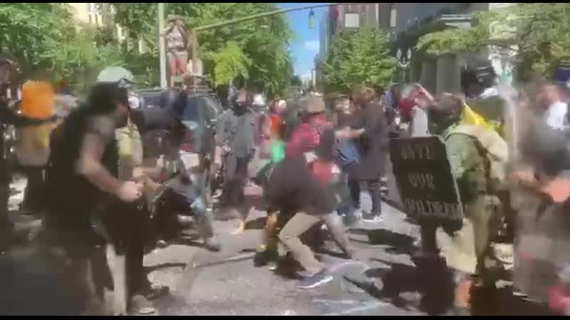Противостояние в Портланде 23 08 2020