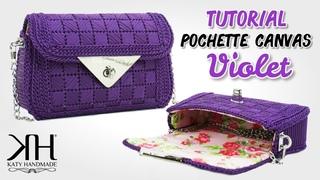 Tutorial pochette su rete preformata - Canvas Violet ♡ Katy Handmade