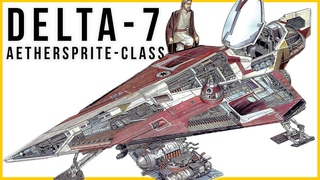 """Delta-7 Jedi Starfighter Really Was """"FORCE POWERED""""   (Star Wars Ships)"""