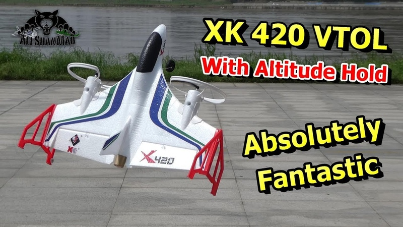 XK X420 6CH 3D 6G VTOL Vertical Take-off and Landing EPP 3D Aerobatic RC Airplane