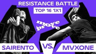 SAIRENTO vs. MVXONE | 1/4 TOP16 1X1 @ RESISTANCE BATTLE 2021