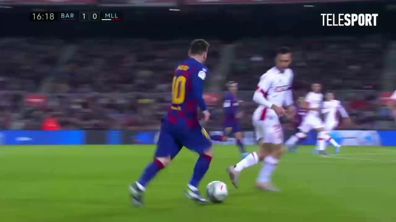 Какой гол забивает лео месси изо пределов штрафной