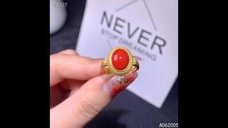 Kjjeaxcmy изысканное ювелирное изделие, 925 пробы, серебро, инкрустированный натуральный драгоценный камень, красный коралл,