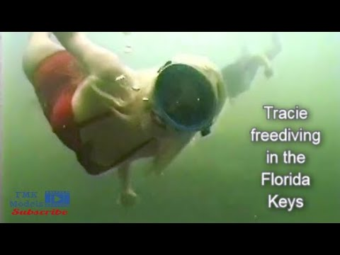 Tracie Diving Underwater in the Keys