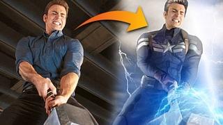Что если бы Капитан Америка поднял молот Тора в Эре Альтрона?