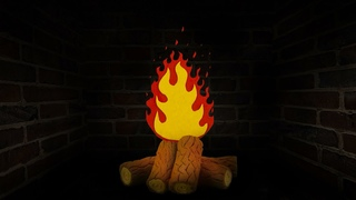 Fireplace 10 hours stop motion animation Full HD/ Камин 10 часов Full HD Анимация стоп моушен