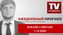 Прогноз на 1.12.2020 от Максима Магдалинина: Данные по инфляции пошатнули позиции евро.
