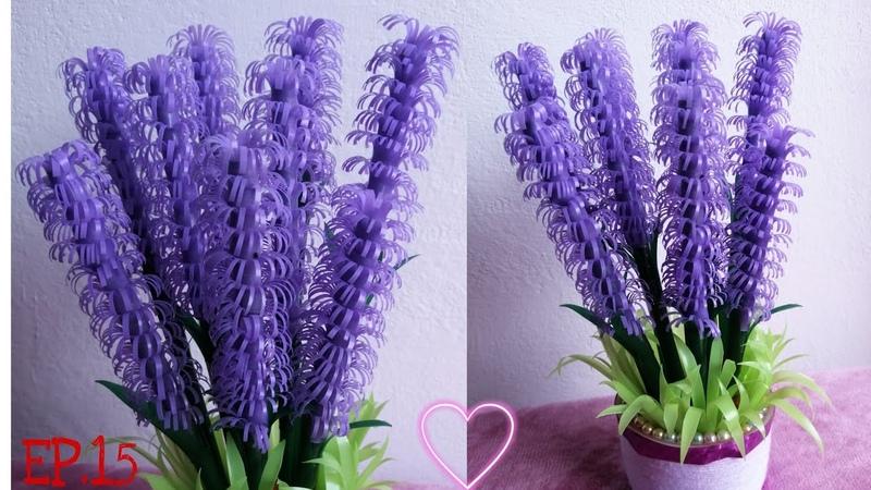ดอกไม้จากหลอดพลาสติก 3 DIY งาน ประดิษฐ์ 8