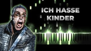 Till Lindemann Ich hasse Kinder - karaoke piano cover, lyrics