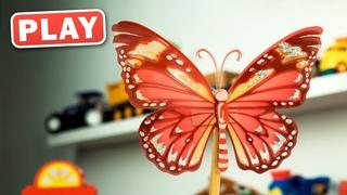 КУКУТИКИ PLAY - Машинки собирают Цветы и изучают Цвета - Видео для малышей