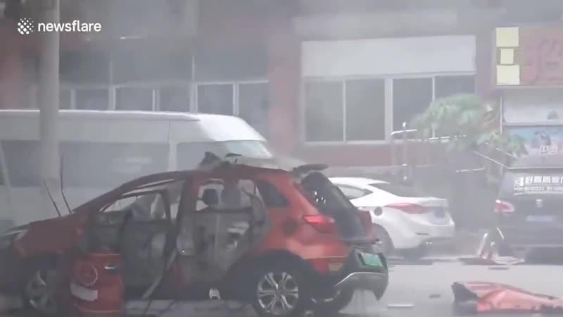 Электрокар взорвался во время подзарядки