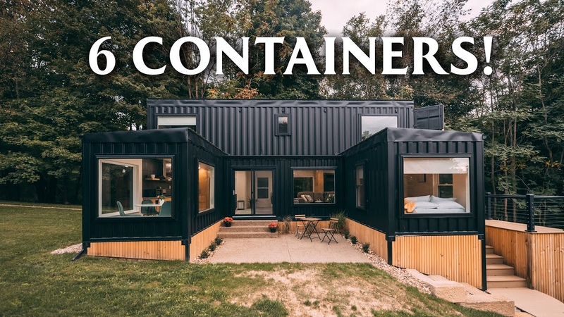 Massive 6 unit Shipping Container Home Airbnb Woodside Container Full Tour