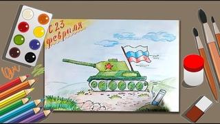 Как нарисовать танк | Рисунки карандашами.