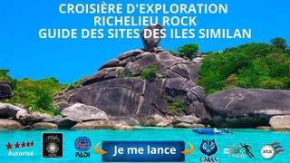 😍Croisière Plongée Scuba îles Similan, Richelieu Rock est un site de plongée dans la mer d'#Andaman