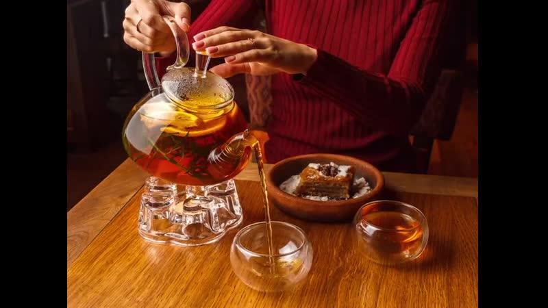 Чай в ресторане Хачо и Пури mp4
