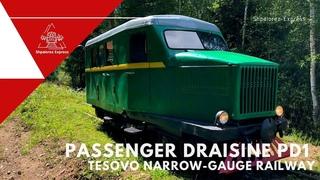 Узкоколейная дрезина ПД1 в Тёсово УЖД / Passenger draisine PD1 Tesovo narrow-gauge railway
