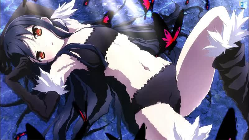 Аниме девушка Kuroyukihime в черном белье из аниме Accel World - живые обои для Wallpaper Engine