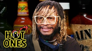 Thundercat Relives a Hot Sauce Nightmare While Eating Spicy Wings   Hot Ones