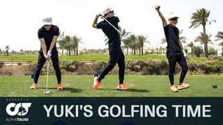 Playing Golf with Yuki Tsunoda