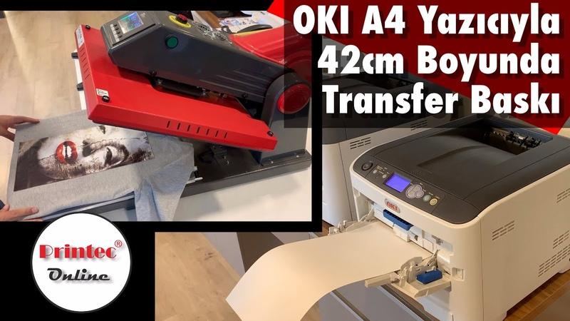 OKI A4 Lazer(LED) Yazıcının banner modu ile tek parçada A4ten büyük tekstil baskısı nasıl yapılır