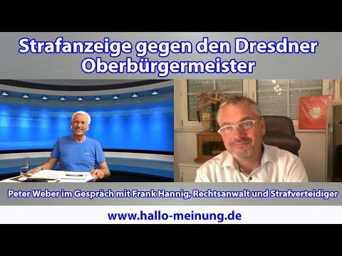 Strafanzeige gegen den Dresdner Oberbürgermeister
