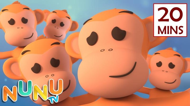 Five Little Monkey पाँच छोटे बंदर More Nursery Rhymes Baby Songs NuNu Tv Hindi Rhymes