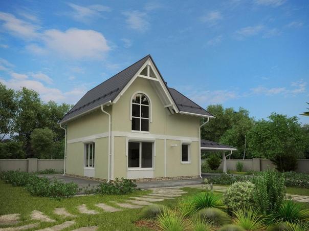 Эскиз проекта двухэтажного дома 150кв