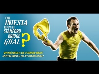 Will Iniesta be capable of repeating his goal at Stamford Bridge 5 years later?