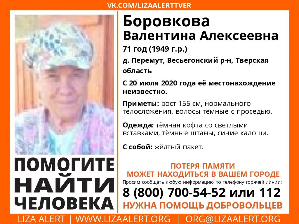 Внимание! Помогите найти человека!  Пропала #Боровкова Валентина Алексеевна, 71 год д