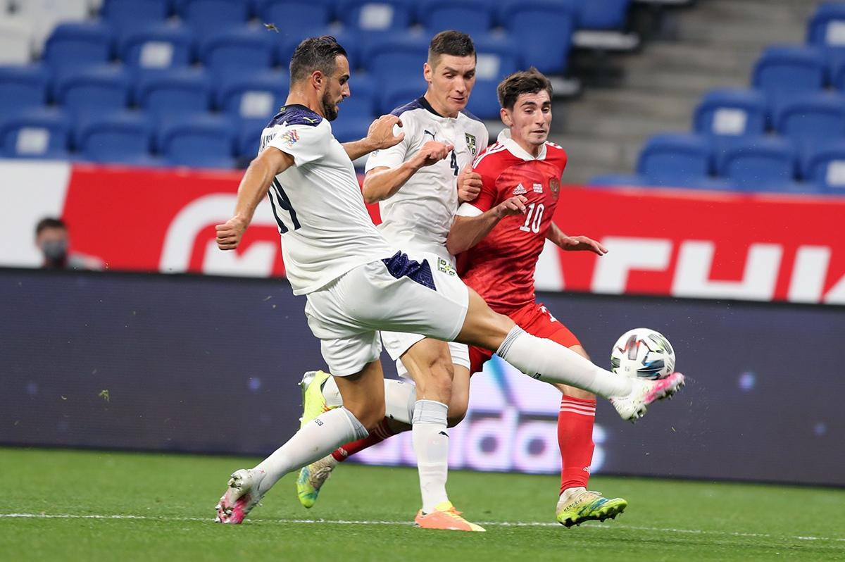 Сборная России - сборная Сербии, 3:1