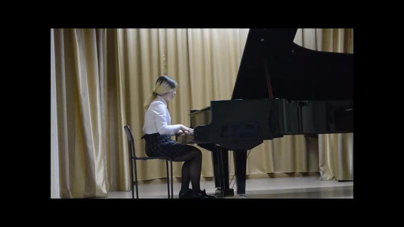Чупрунова Наташа 14 лет МУДО ДШИ г Касли В А Моцарт Соната №12 фа мажор