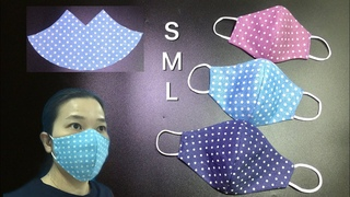 It took 3 minutes, really only 3 minutes to make this mask-It's too simple for the beginner to sew