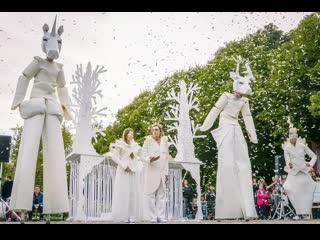 Спектакль «Белый лес» уличного театра «Эскизы в пространстве»