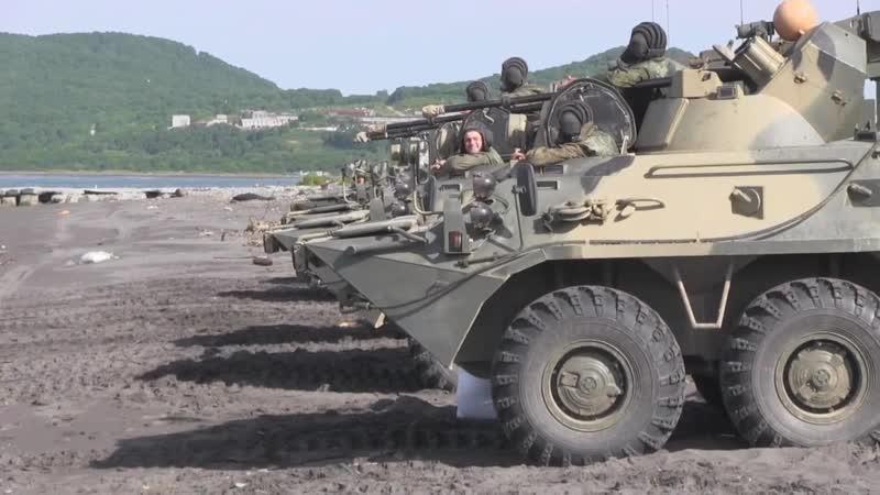 Учения морских пехотинцев Тихоокеанского флота в рамках внезапной проверки боеготовности