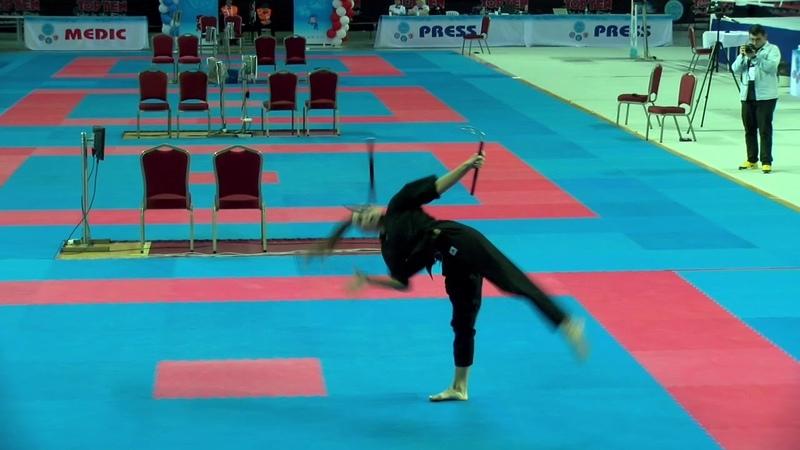 Angelina Kopytova Musical Forms With Weapons WAKO World Championships 2019