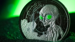The Perfect Gift for Alien and UFO Believers! New Alien Coin Series by Scottsdale Mint