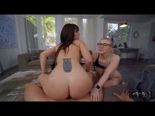 Emily Right, Kiara Edwards - Join Us By The Pool (All Sex, Blowjob, Threesome]