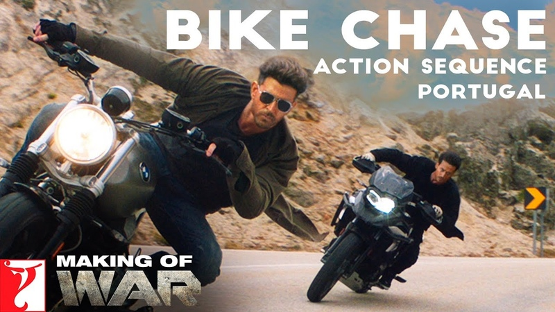Making of War | Bike Chase Action Sequence - Portugal, Hrithik Roshan, Tiger Shroff, Siddharth Anand