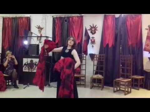 Alex el Gato - Adio Kerida (Yasmin Levy) - tribal fusion with fan veils (свое видео)