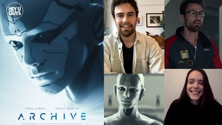 Stacy Martin & Theo James on creating the heart of A.I. sci-fi movie Archive