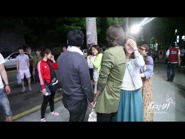 Love Rain 사랑비 Making 8 BTS Piggyback Scene (Hana Joon). May14,2012